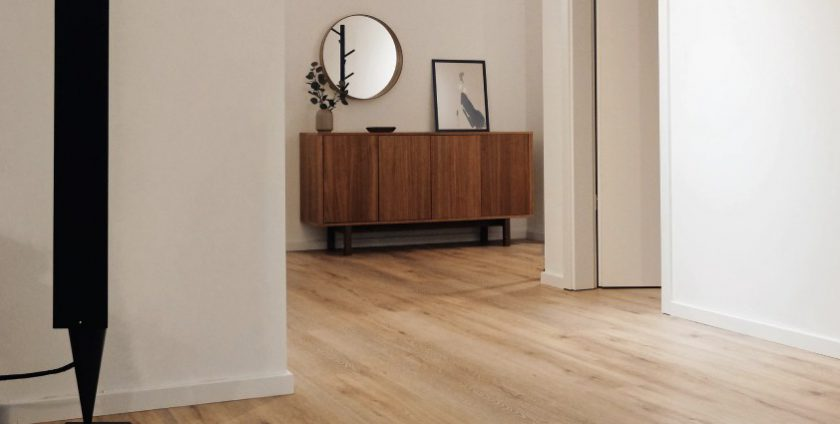 Laminate flooring in a house